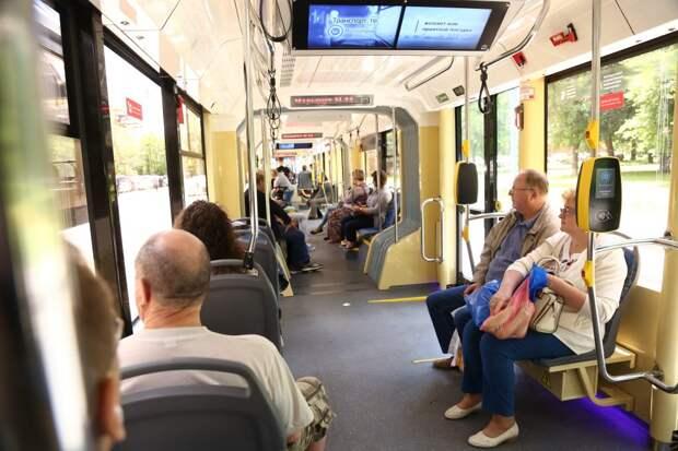 На трамваях в Строгине окажут помощь маломобильным пассажирам
