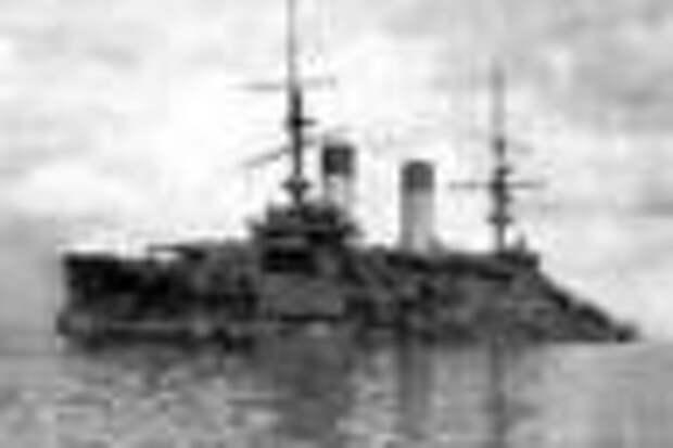 Броненосец ''Орел'', захваченный японцами. Фото с сайта Pallada.narod.ru