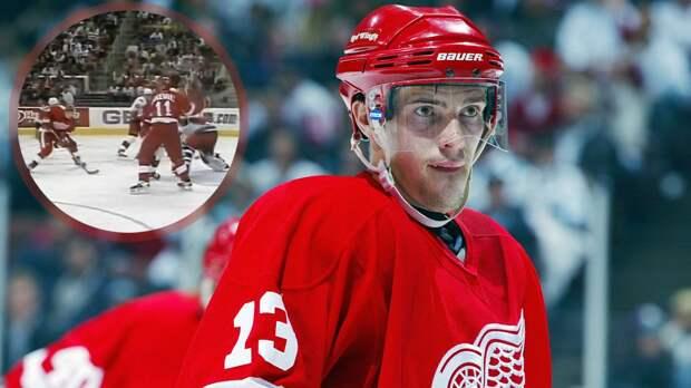 Легендарный гол русского хоккеиста Дацюка в США. Он уложил на лед вратаря, чтобы впервые забить в НХЛ: видео