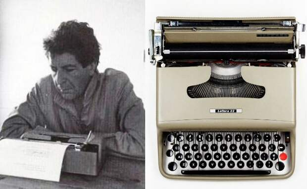 Леонард Коэн и его Olivetti Lettera 22.