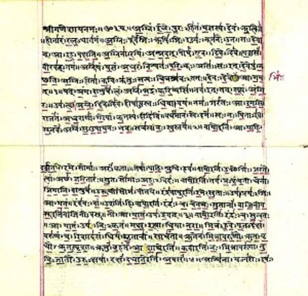 Страницы древней индийской книги заговоров