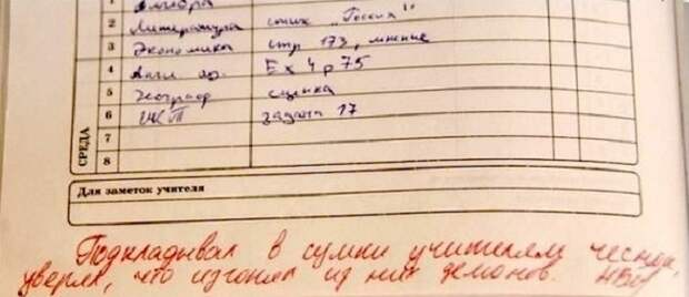 25 гениальных записей в школьных дневниках, которые рассмешили даже родителей