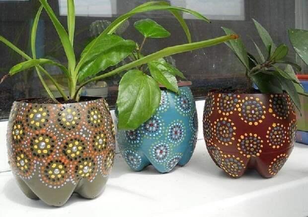 вазы с акриловым рисунком