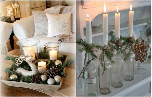 Из свечей можно сделать красивую композицию