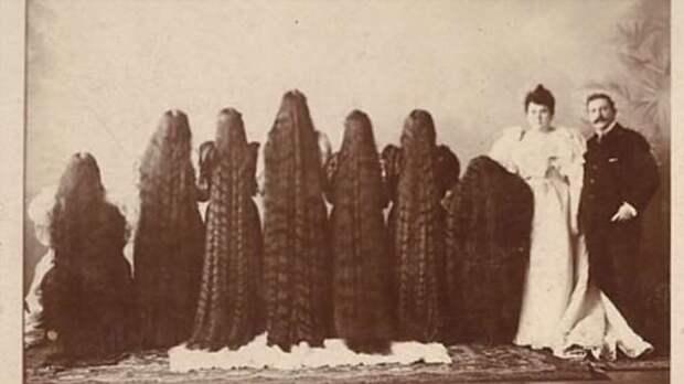 Печальная судьба семи сестёр с невероятно длинными волосами (5 фото)