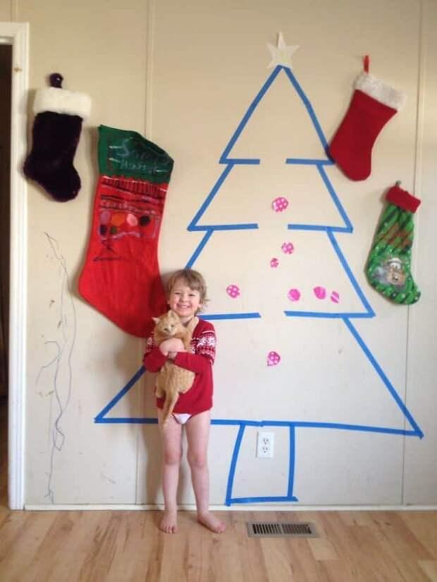 «И так сойдет!» 20 безумных елок, которые появились благодаря лени-матушке