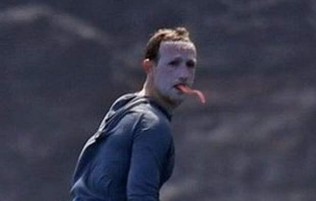 Марк Цукерберг с белым лицом попал в мемы пользователей соцсетей