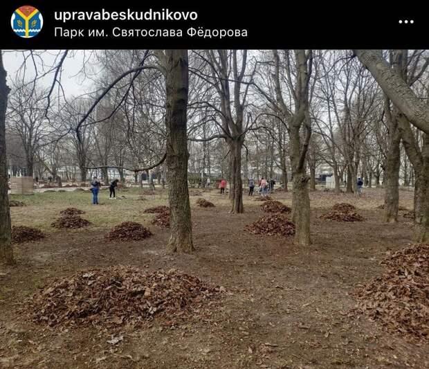 Парк имени Федорова привели в порядок после зимнего сезона