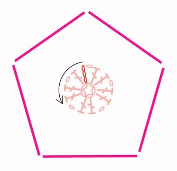 Цветочный фрагмент крючком АФРИКАНСКИЙ ЦВЕТОК для вязания игрушек (76) (400x389, 41Kb)