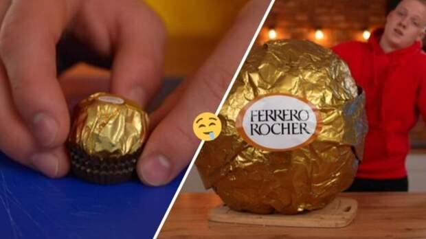 Как приготовить гигантский Ferrero Rocher в 100 кг? На создание мечты сладкоежки у блогера ушло 4 дня