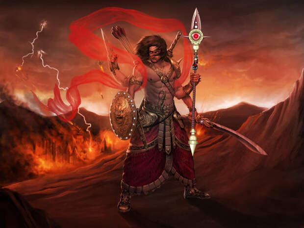 Арт. Бог Шива, Шива-Разрушитель