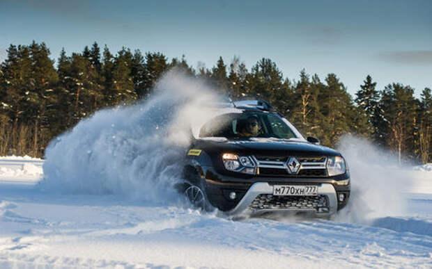Карельский дрифт: кроссоверы Renault на льду Ладожского озера