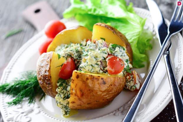 Картофель по-деревенски с творогом. \ Фото: stale.ru.