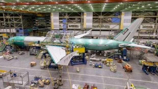 Собранный фюзеляж Boeing 777-9