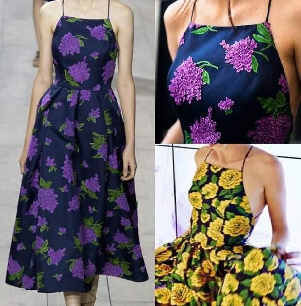 Выкройка нарядного платья с открытой спиной