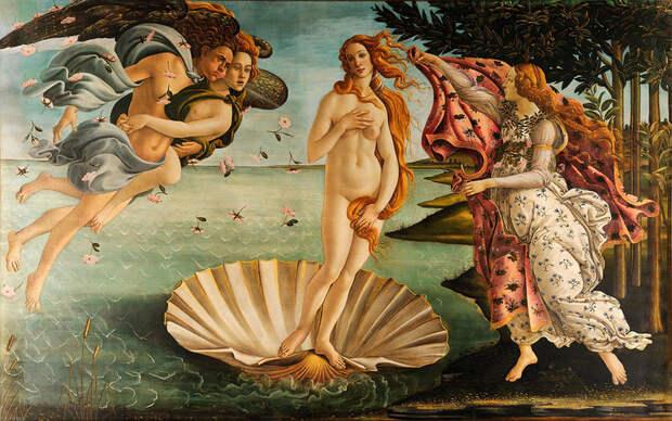 Сандро Боттичелли, «Рождение Венеры», 1482 - 1486