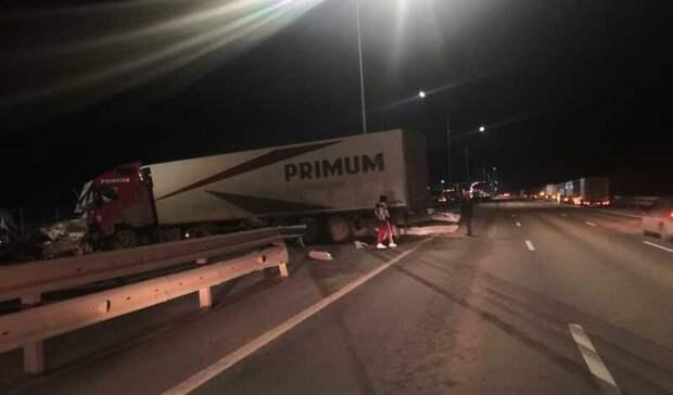 Смертельное столкновение грузовиков произошло наМ-4 вРостовской области
