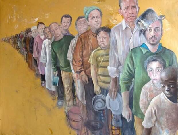 Мировые лидеры в образах беженцев