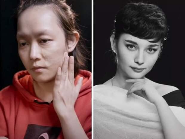 Магия макияжа: впечатляющие превращения от девушки из Китая