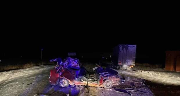 На трассе в Удмуртии легковушка врезалась в стоявшую с «аварийкой» фуру, пассажир погиб