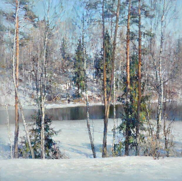 Зимнее молчание, краски лета и серебро сентября... Задумчивые пейзажи Валентина Короткова