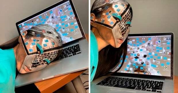 Обман на лицо: кореянка рисует умопомрачительные оптические иллюзии