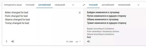 Особенности демократического Google-перевода