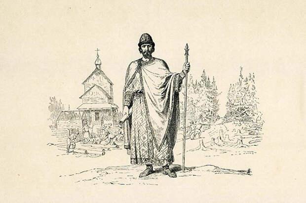 Великий Князь Юрий Владимирович Долгорукий. Рисунок Василия Верещагина.