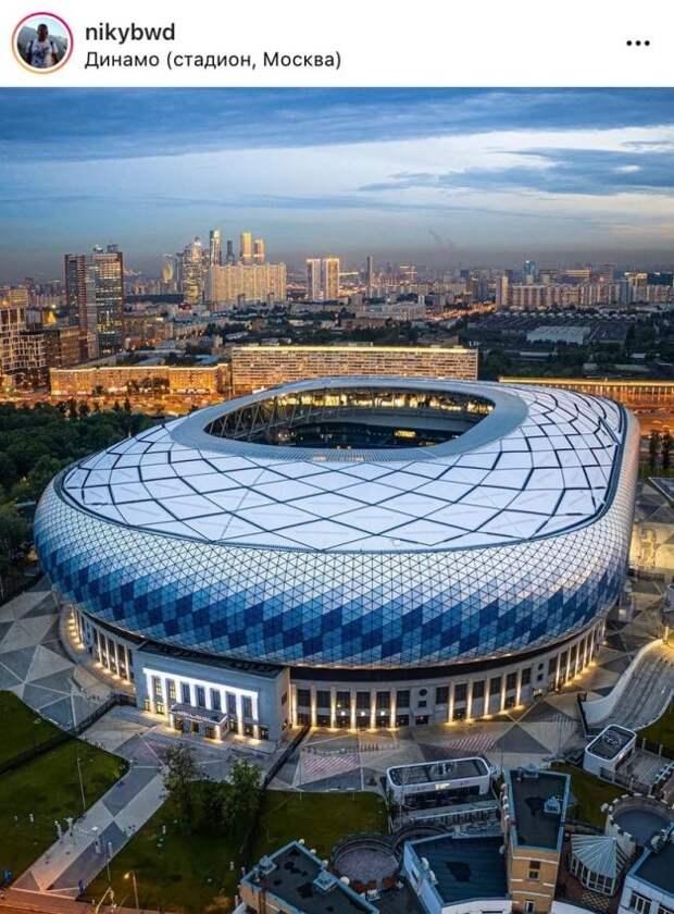 Фото дня: вид сверху на стадион «Динамо»