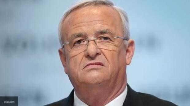 """Экс-руководителю Volkswagen Винтеркорну предъявили обвинения по """"дизельгейту"""""""