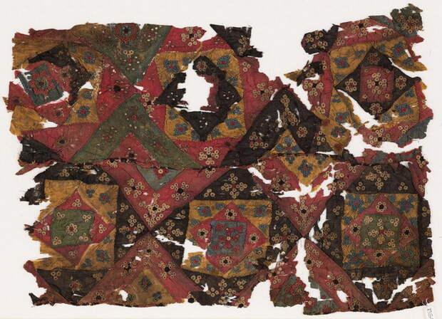 Лоскутное шитье из Египта, XVI век. Музей Оксфорда.