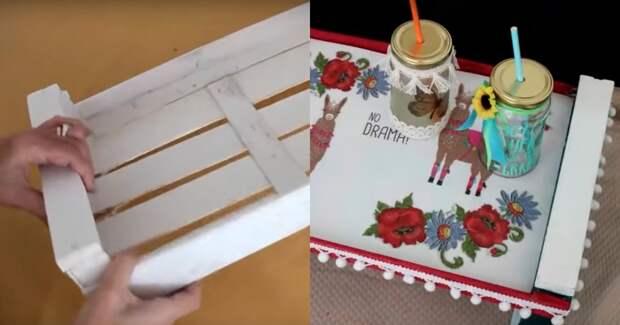 Три удачные идеи, которые можно воплотить из деревянного ящика