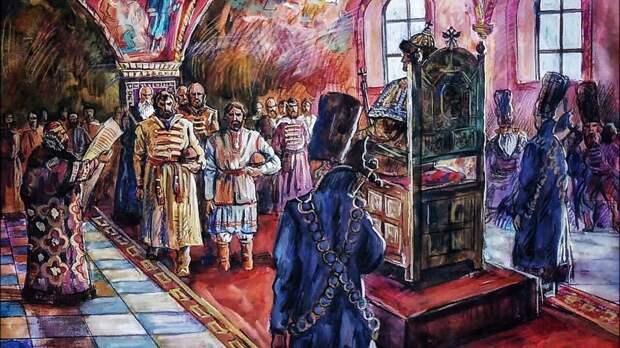 посольство горной стороны (черемисов и чувашей) у Ивана Грозного (художник О.Леонтьев)