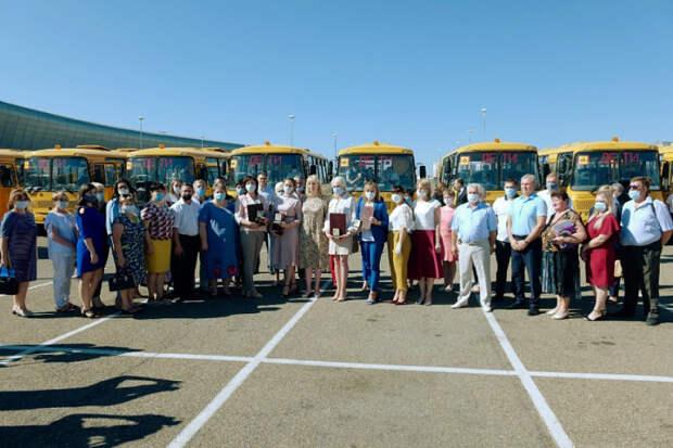 На Кубани муниципалитеты получили 74 школьных автобуса