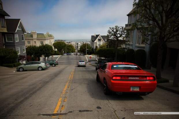 Уникальные наклонные улицы Сан-Франциско