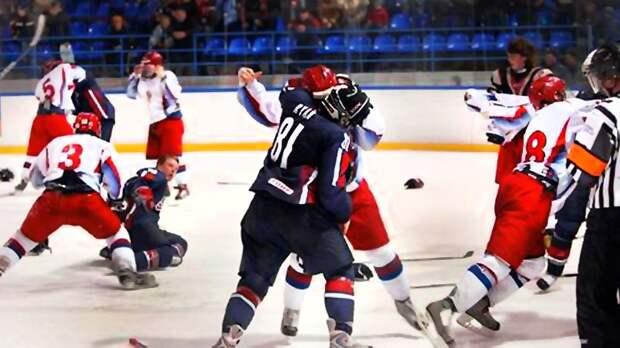 Грандиозная драка Россия— США в2007-м. Американским хоккеистам дали команду бить русских, ноплан провалился