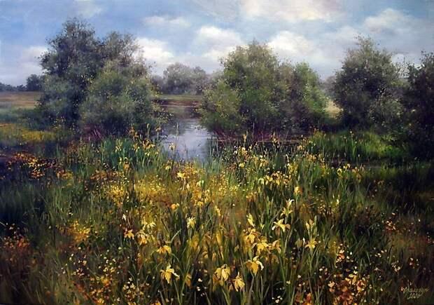 «Найди меня, я в поле средь цветов». Потрясающие пейзажи художницы Ольги Одальчук