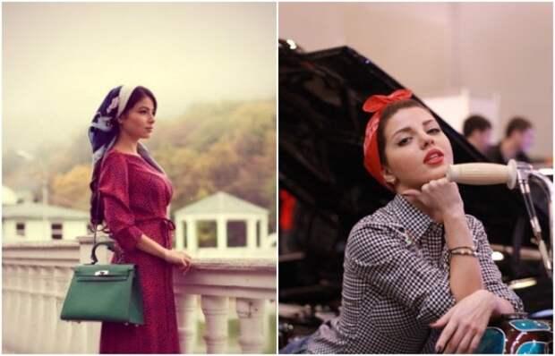 Теперь косынка - не только часть униформы работницы, но и модный аксессуар. /Фото: vk.com, fotokto.ru