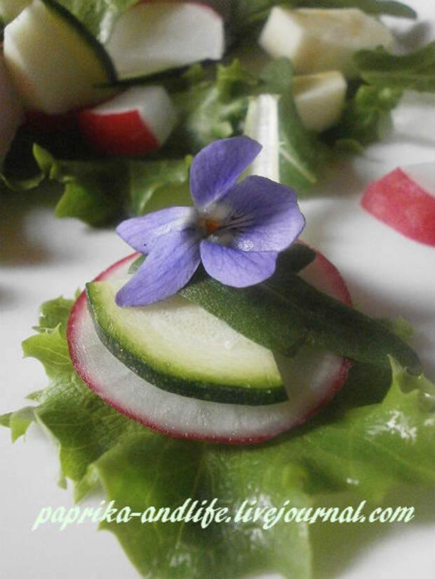 Цветочная кулинария. Фиалка