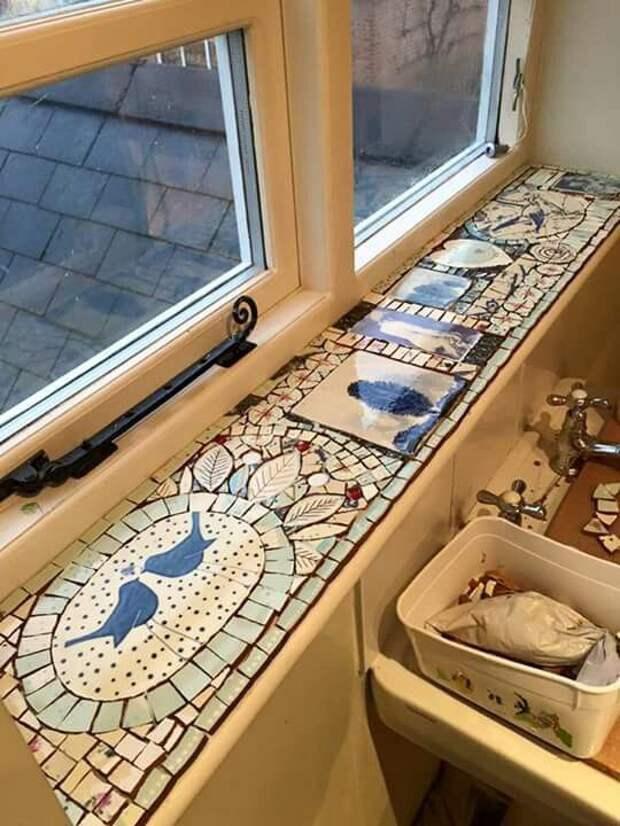 Мозаика на подоконнике