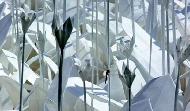 Оригами клумба