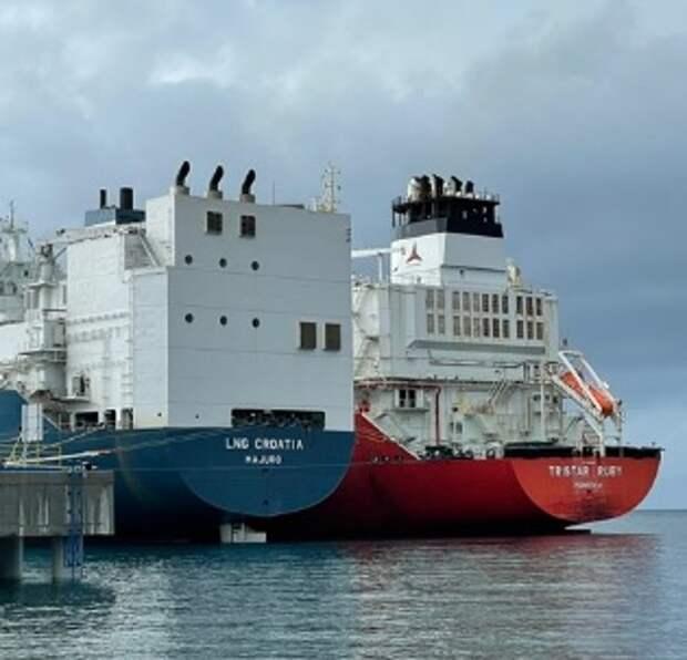 Первый танкер сСПГ пришел вХорватию: США добрались доВенгрии