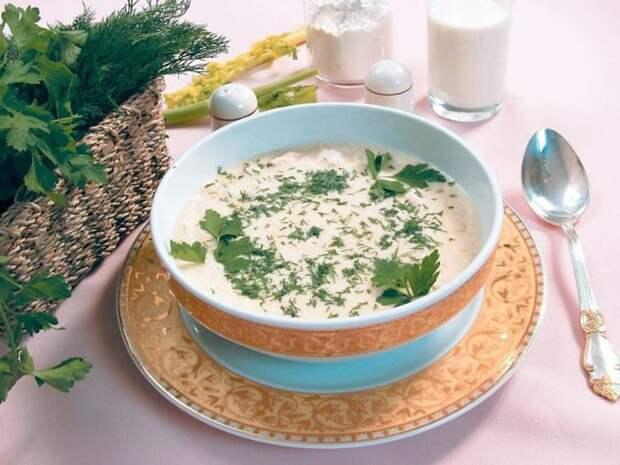 Суп с творогом. \ Фото: dselection.ru.