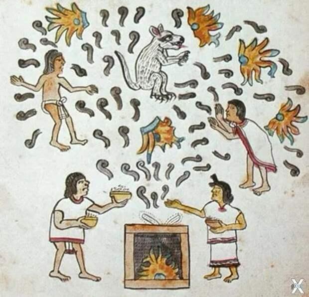 В ацтекском кодексе Magliabechiano им...