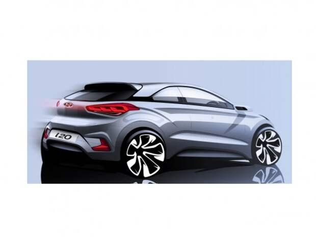 Hyundai обнародовала изображение нового i20 в кузове купе