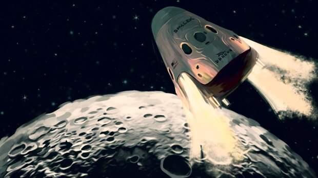 Ракеты Илона Маска доставят астронавтов НАСА на Луну