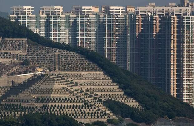 1. Гонконг. Квартиры с видом на китайское кладбище жилая застройка, каменные джунгли, квартиры, фото, человеческий муравейник