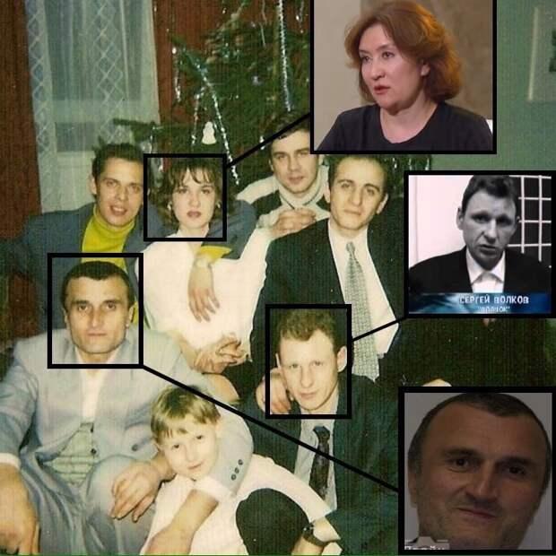 Фотографии из 90-х запечатлевшие пресловутою судью Елену Хахалеву в компании криминальных авторитетов.