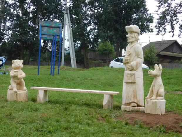 В Завьяловском районе Удмуртии появился парк деревянных скульптур