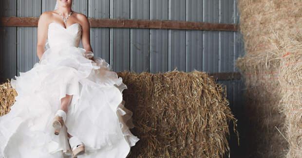 Невеста на сене